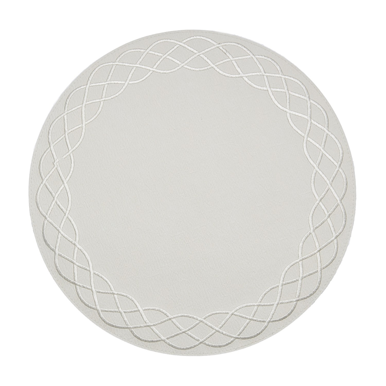 Bodrum Round Ivory Helix Placemats Set/6