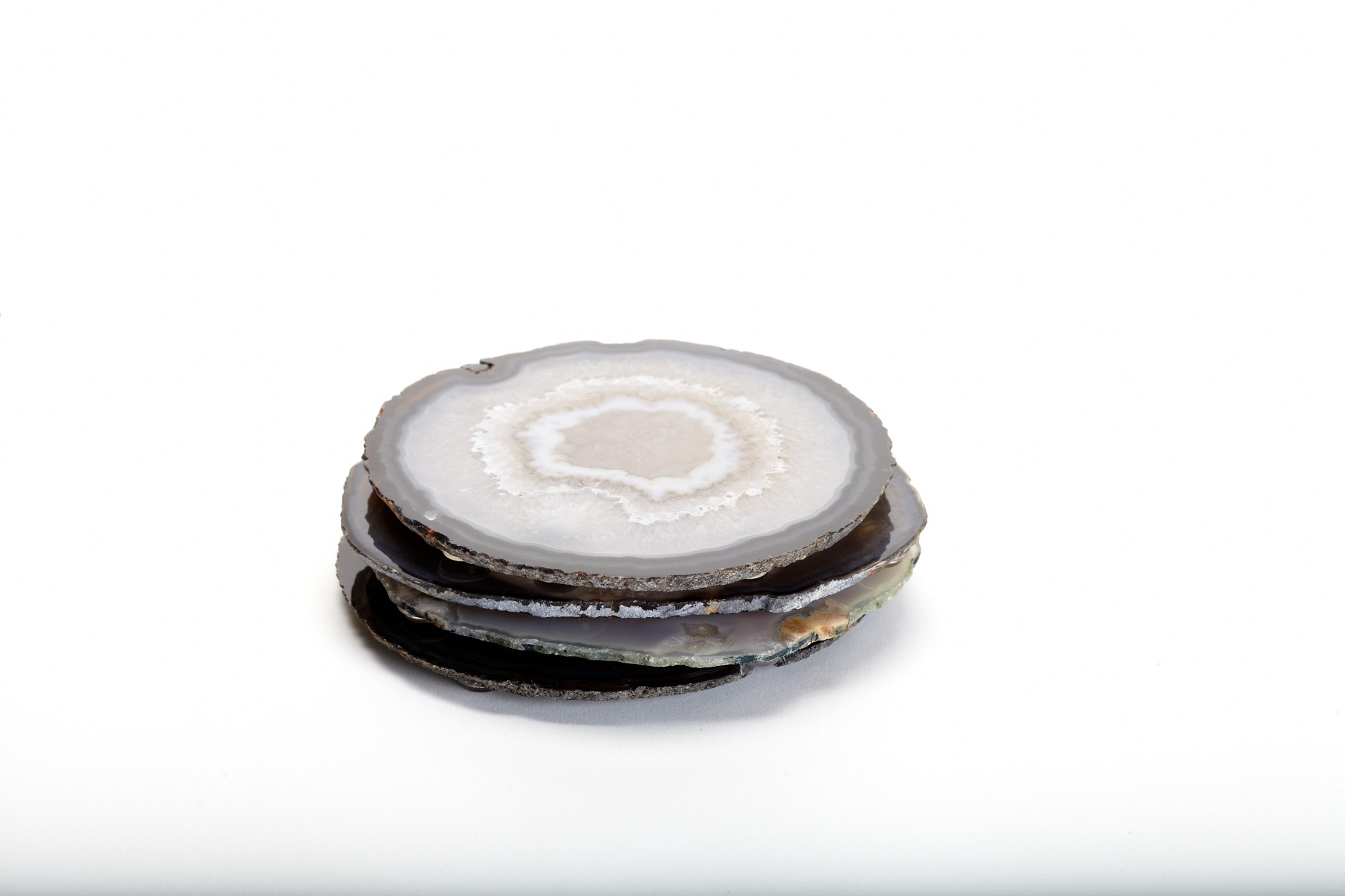 Natural Agate Coaster Set
