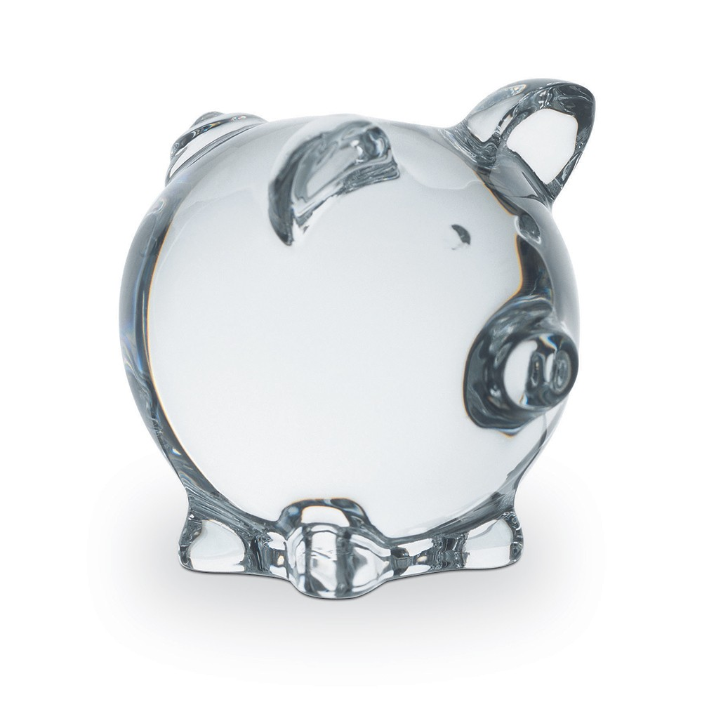 Baccarat Crystal Clear Pig Figurine