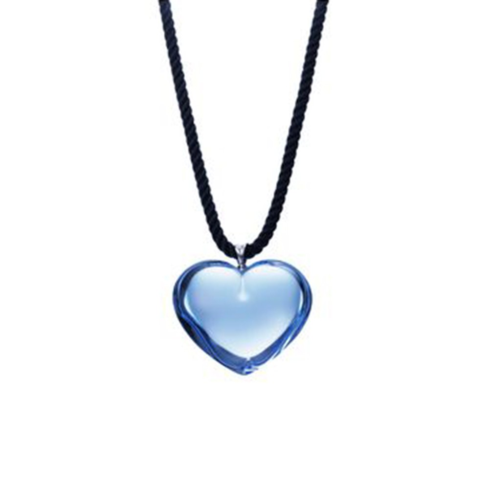 Baccarat crystal blue heart necklace mozeypictures Gallery