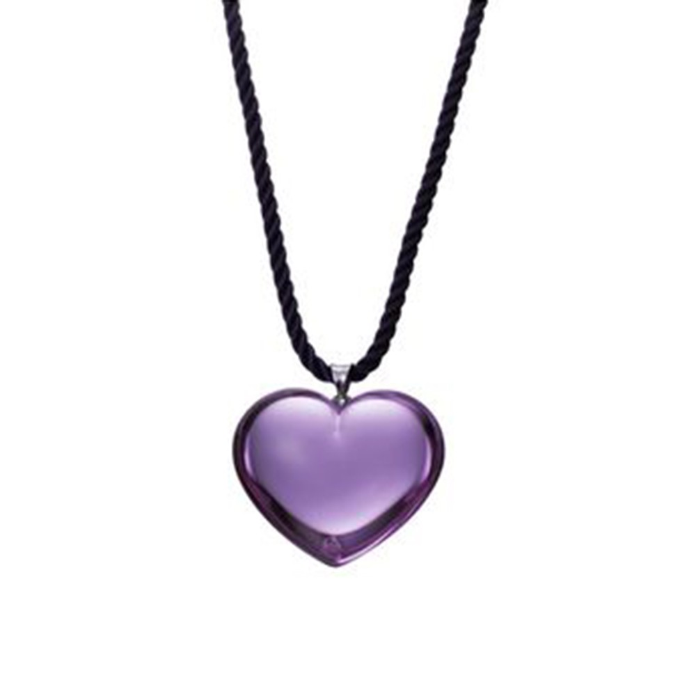 Baccarat crystal violet heart necklace mozeypictures Gallery
