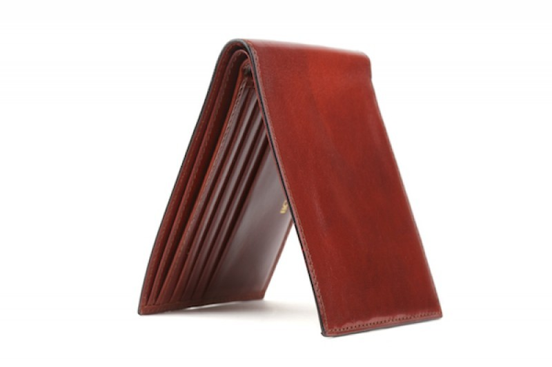 Bosca Cognac Leather Executive ID Wallet