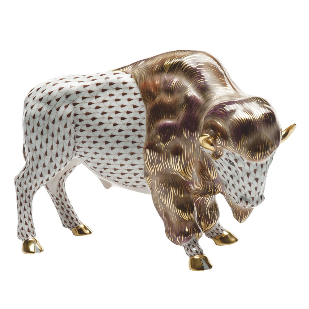 Herend Reserve Collection Bison Figurine