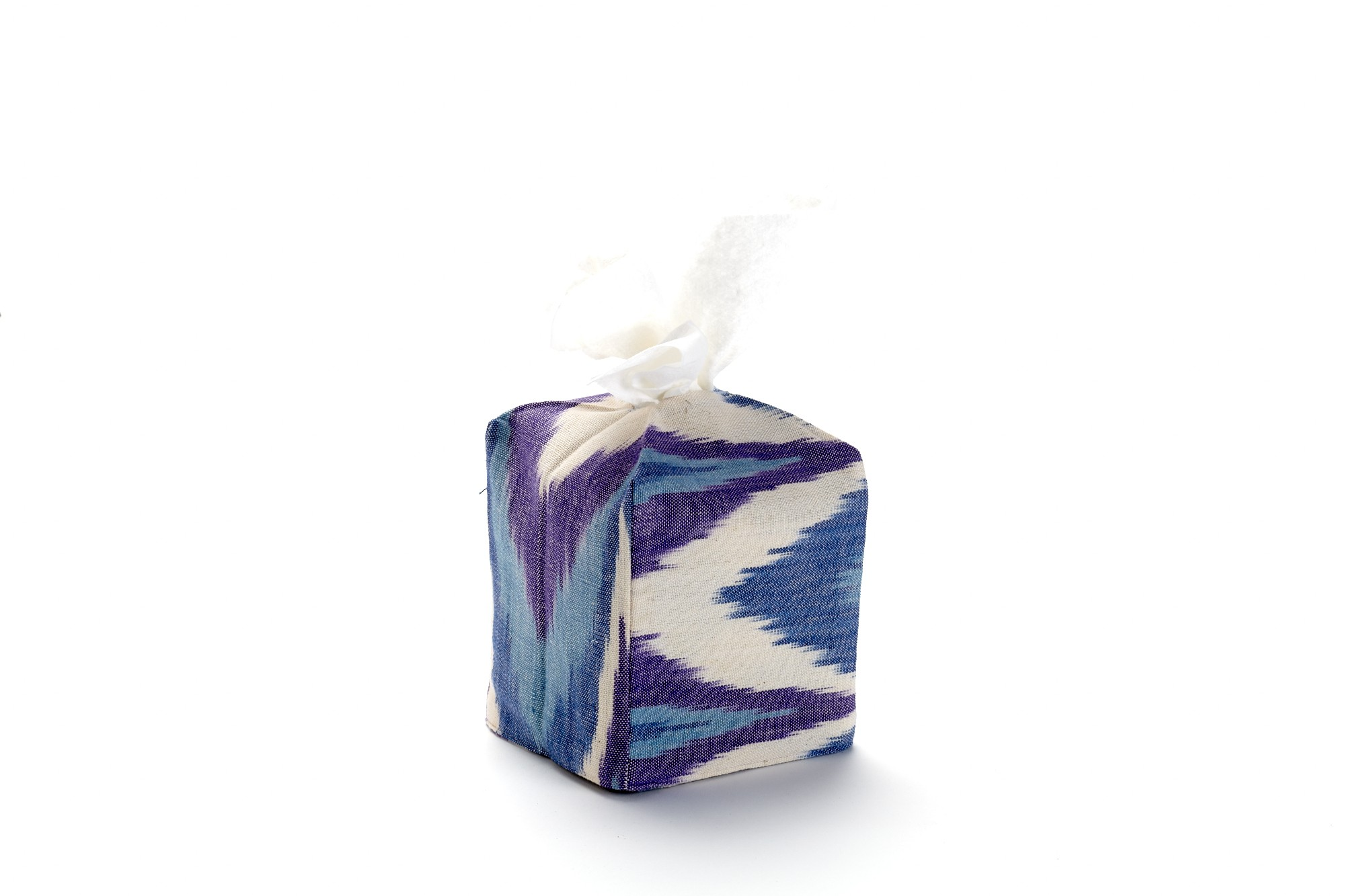 Purple Ikat Tissue Box Cover