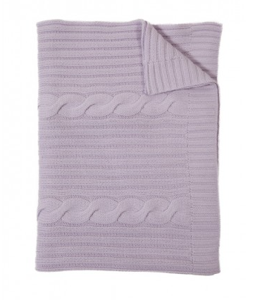 Rani Arabella Lilac Roma Cashmere Throw