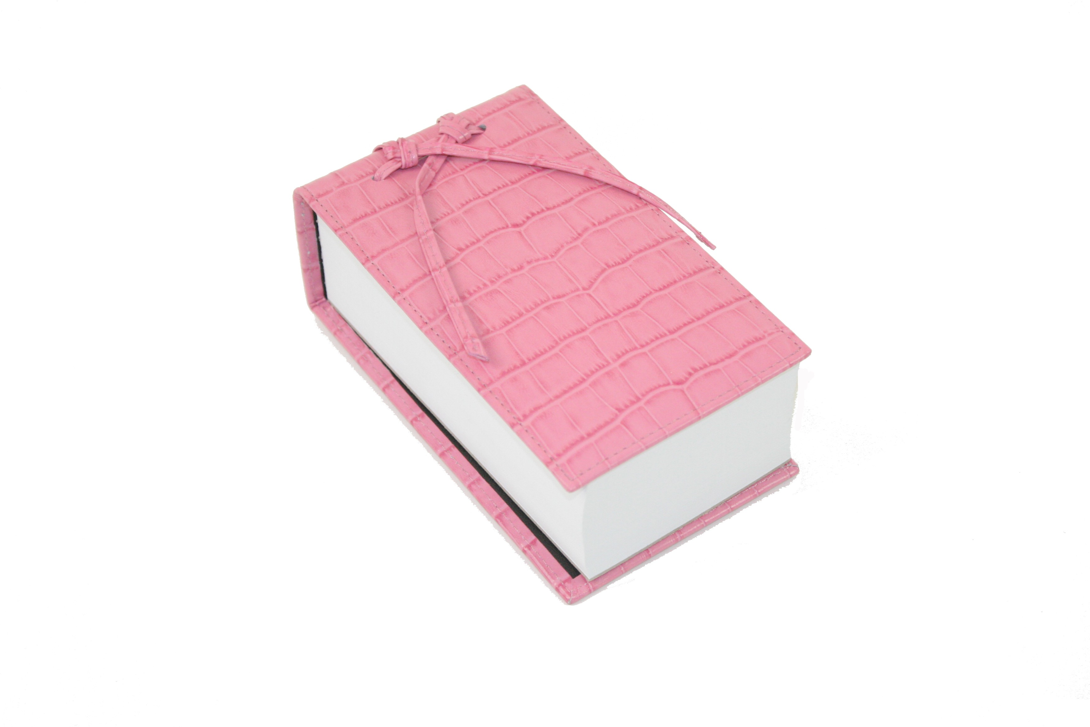 Pink Leather Croc Scratch Pad