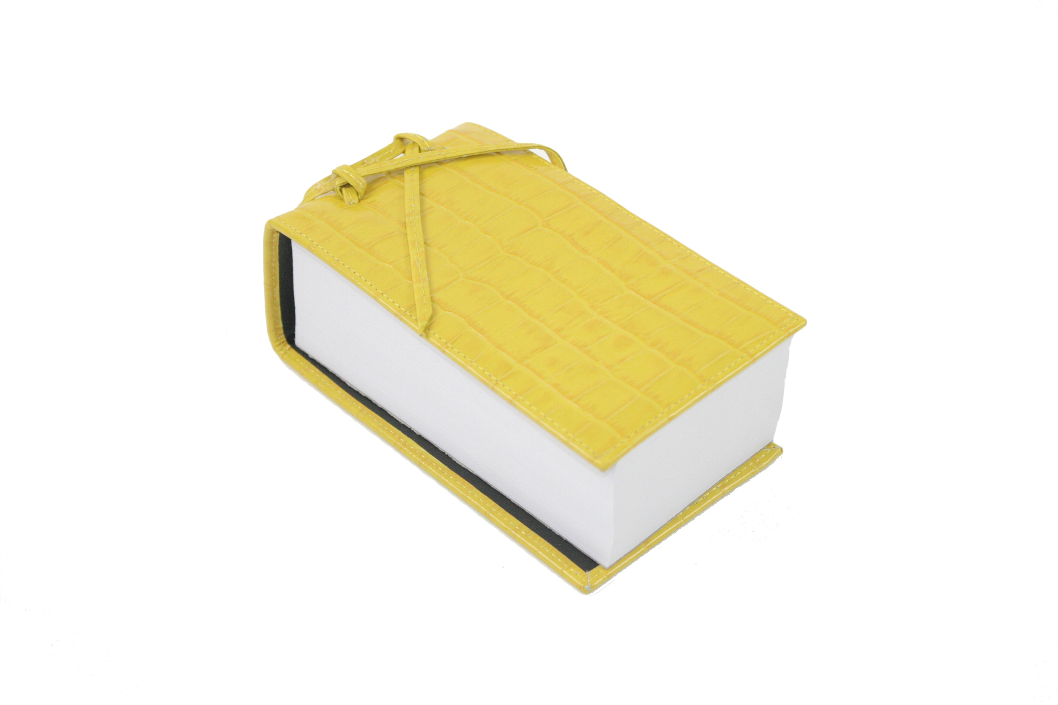 Yellow Leather Croc Scratch Pad