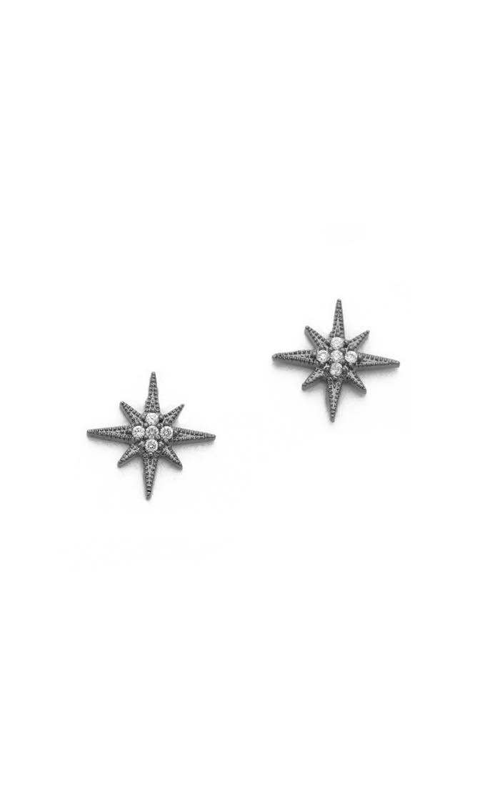Tai Jewelry Starburst Stud Earrings, Silver