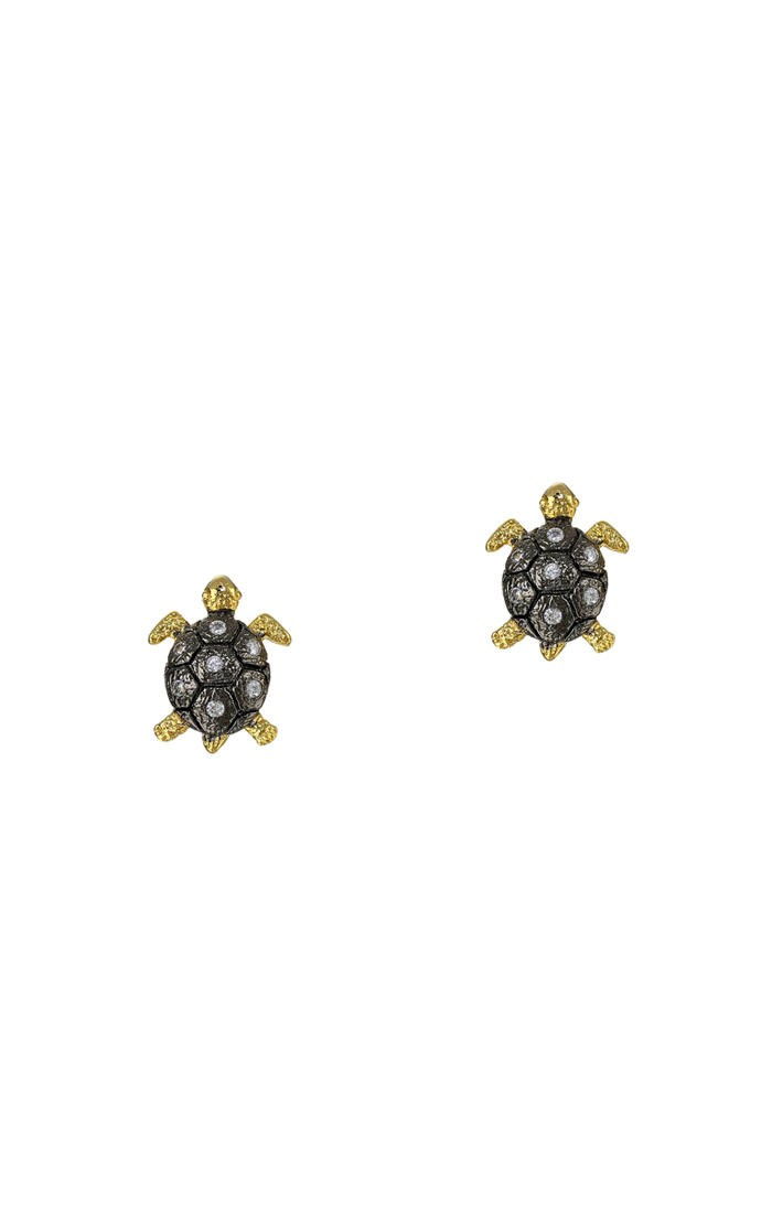 earrings sea stud gems turtle