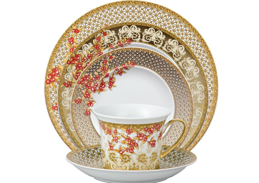 Versace christmas in your heart bread and butter plate