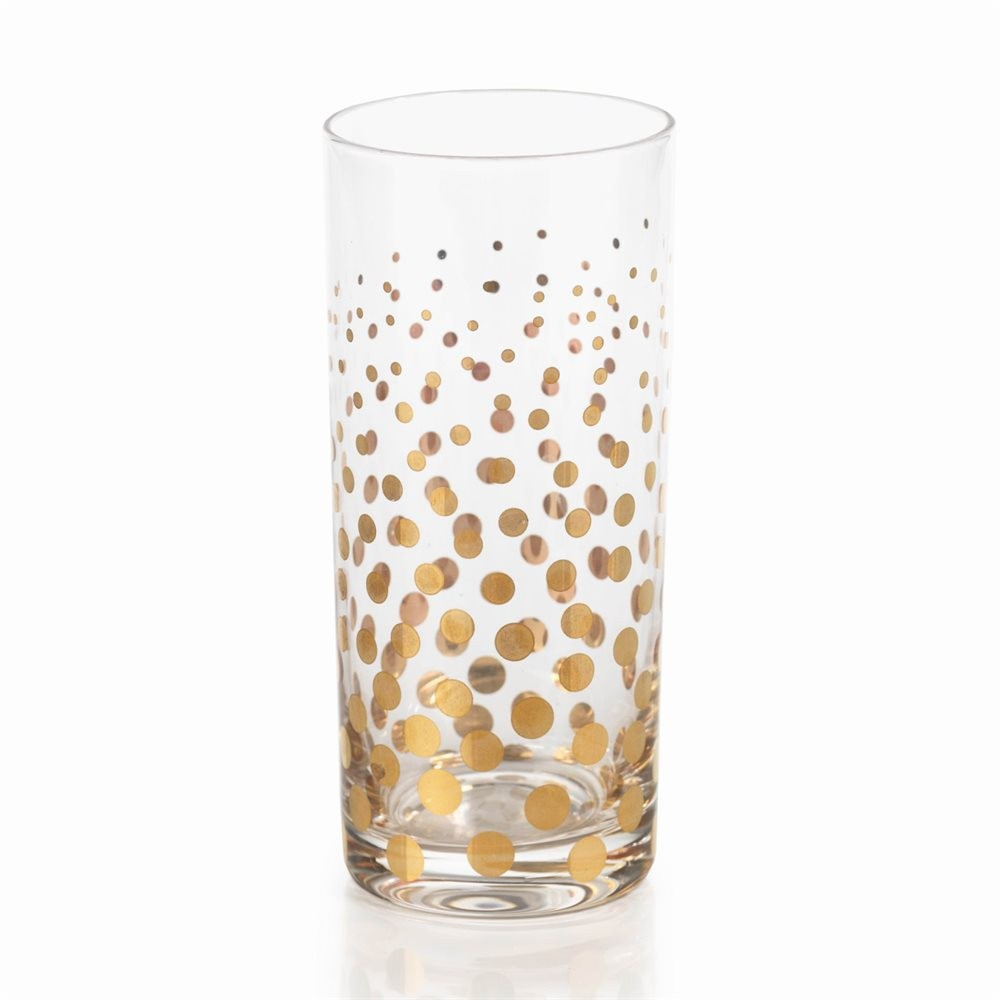 Gold Polka Dot Highball