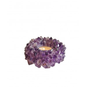 Amethyst Quartz Votive, Small