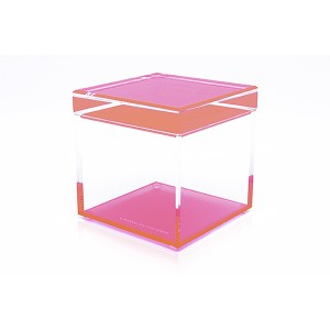 AVF Acrylic Cubic Treasure Box, Pink