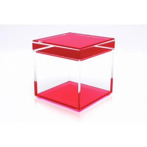 AVF Acrylic Cubic Treasure Box, Red
