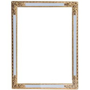 Blue Enamel Frame with Roses