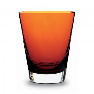Baccarat Crystal Mosaïque Orange Tumbler