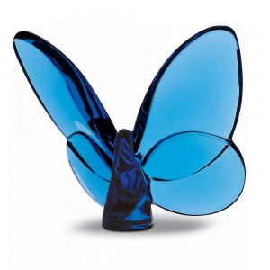 Baccarat Crystal Blue Lucky Butterfly