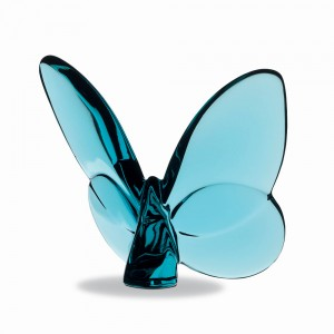 Baccarat Crystal Turquoise Lucky Butterfly