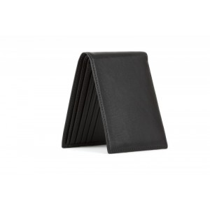 Bosca Black Leather Executive ID Wallet