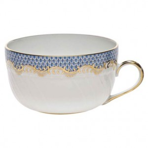 Herend Fish Scale Blue Tea Cup