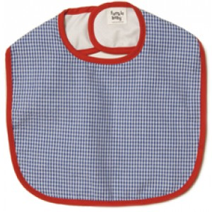 Blueberry Gingham Bib