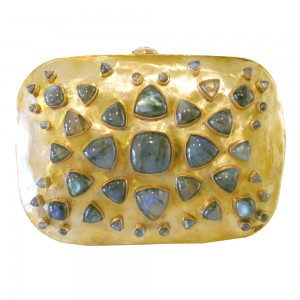 Brass and Labradorite Bendall Clutch