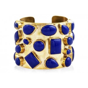 Brass and Lapis Bendall Cuff