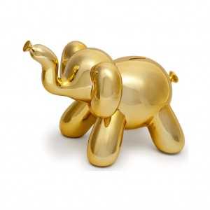 Gold Elephant Balloon Bank