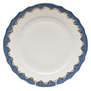 Herend Blue Fish Scale Dinner Plate