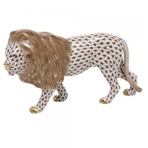 Herend Standing Lion, Brown