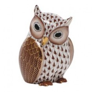 Herend Mother Owl, Brown