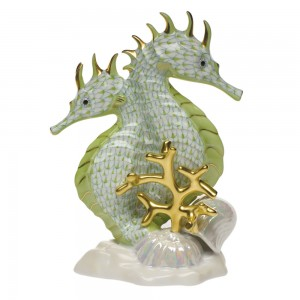Herend Seahorses Figurine, Key Lime