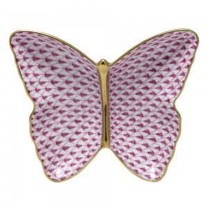 Herend Butterfly Dish, Pink