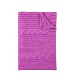 Rani Arabella Magenta Roma Cashmere Throw