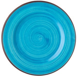 St. Tropez Turquoise Dinner Plate