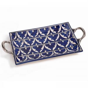 Blue and White Mazagan Tray