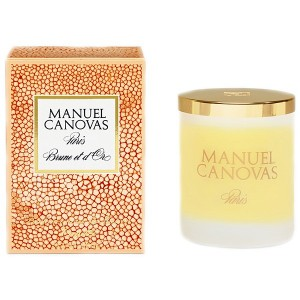 Manuel Canovas Brune et d'Or Candle, Large