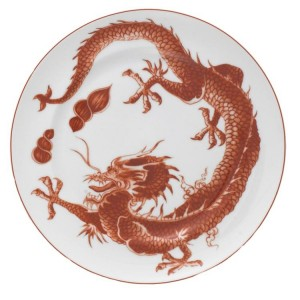 Mottahedeh Red Dragon Bread and Butter Plate