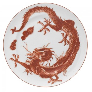Mottahedeh Red Dragon Dessert Plate