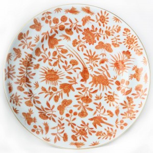 Mottahedeh Sacred Bird and Butterfly Dinner Plate