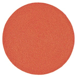 Kim Seybert Orange Round Beaded Placemat