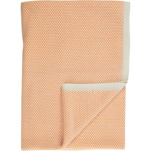 Rani Arabella Orange Honeycomb Cashmere Throw