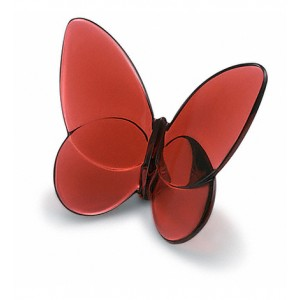 Baccarat Crystal Ruby Lucky Butterfly