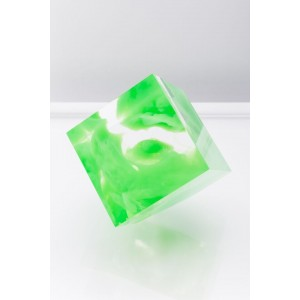 Sawyer Collection Green Infused Tilted Cube