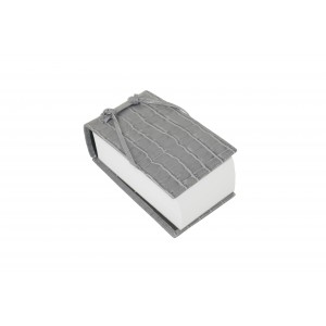 Gray Leather Croc Scratch Pad