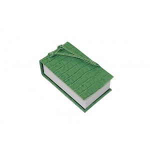 Green Leather Croc Scratch Pad
