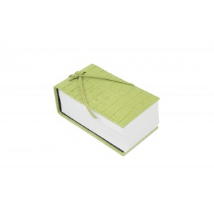 Lime Leather Croc Scratch Pad