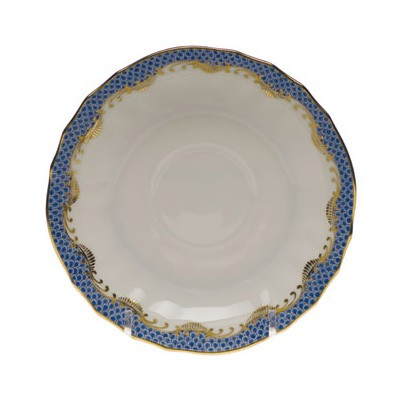 Herend Fish Scale Blue Canton Saucer