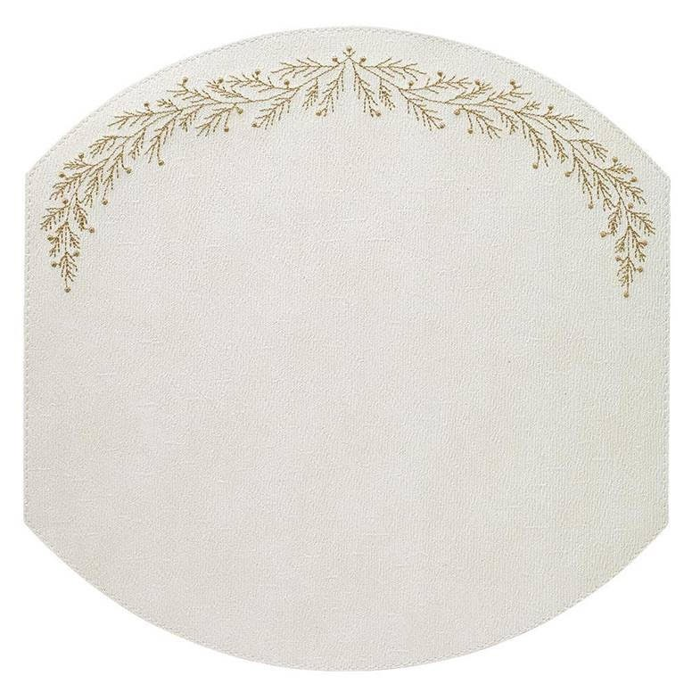 Bodrum Holly White Gold Placemats
