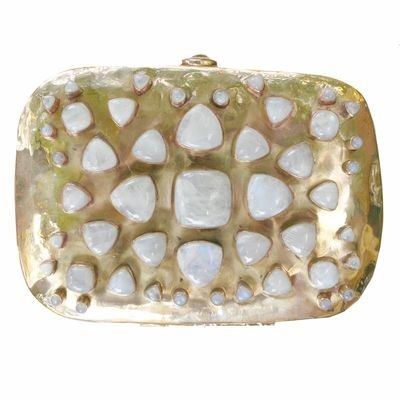 Brass and Moonstone Bendall Clutch